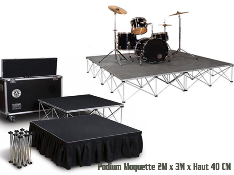 Podium 1Mx1M x 6 H 40cm 900K/m² 6m²